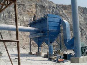 内蒙古矿山破碎机除尘器安装现场